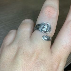 Alex and Ani Scarab Spoon Ring